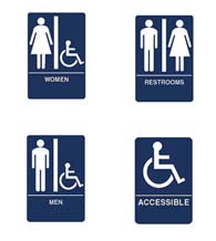 ADA Compliant Bathroom Signs