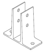 Lavatory Panel and Pilaster Double Flange Bracket, Bommer 1141-1