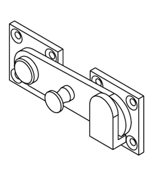 Door Flip Latch restroom door throw latch and keeper, bommer 15001 - doorware