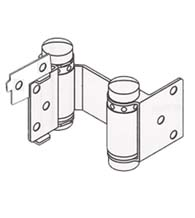 Louvered Door Double Acting Spring Hinge with Hold Open, Pair, Bommer 1514-H
