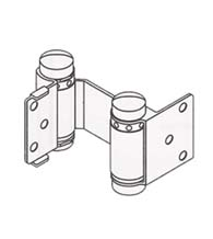 Louvered Door Double Acting Spring Hinge, Pair, Bommer 1514