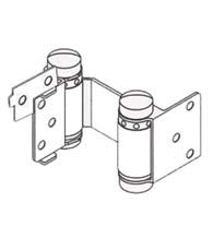 Louvered Door Double Acting Spring Hinge with Hold Open, Pair, Bommer 1515-H