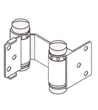 Louvered Door Double Acting Spring Hinge, Pair, Bommer 1515