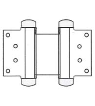 4 Inch Half Surface Double Acting Spring Hinge, Pair, Bommer 3023-4