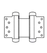 5 Inch Half Surface Double Acting Spring Hinge, Pair, Bommer 3023-5