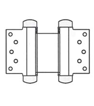 6 Inch Half Surface Double Acting Spring Hinge, Pair, Bommer 3023-6
