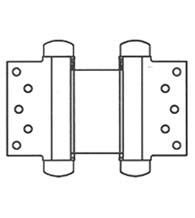 7 Inch Half Surface Double Acting Spring Hinge, Pair, Bommer 3023-7