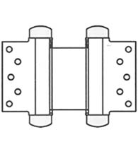 8 Inch Half Surface Double Acting Spring Hinge, Pair, Bommer 3023-8