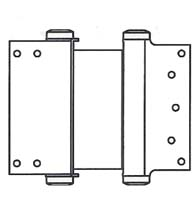 8 Inch  Box Clamp Type Double Acting Spring Hinge, Pair, Bommer 3024-8