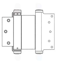 5 x 3-1/2 Template Mortise Double Acting Spring Hinge, Pair, Bommer 3029-5x3.5