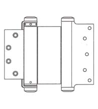 6 x 4-1/2 Template Mortise Double Acting Spring Hinge, Pair, Bommer 3029-6x4.5