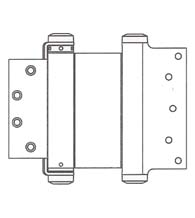 8 x 4-1/2 Template Mortise Double Acting Spring Hinge, Pair, Bommer 3029-8x4.5
