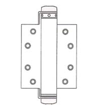 6 Inch Spring Hinge, UL Fire Rated, Pair, Bommer 4030-6