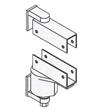 Box Clamp Mount Spring Door Pivot Hinge with Adjustable Tension, Bommer 7114
