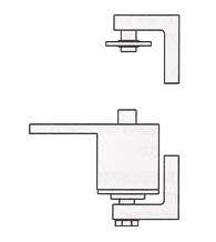 Satin Chrome Surface Mount Spring Door Pivot Hinge with Non-Adjustable Tension, Bommer 7212-626