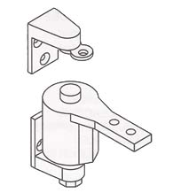 Surface Mount Gravity Door Pivot Hinge, Bommer 7412