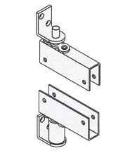 Box Clamp Mount Louvered Door Gravity Pivot Hinge, Bommer 7514