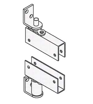 Box Clamp Mount Louvered Door Gravity Pivot Hinge with Hold Open, Bommer 7514-H