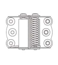 2-3/4 Inch Double Acting Spring Hinge For Gates, Pair, Bommer 9700