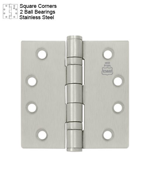 4-1/2 x 4 Stainless Steel Hinges