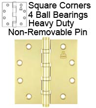 4-1/2 x 4-1/2 Heavy Duty Ball Bearing Non-Removable Pin Hinge, Bommer BB5004-450N