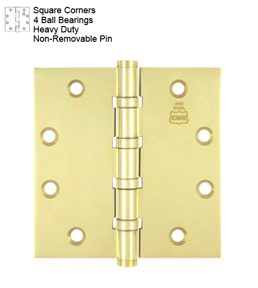 how to make door hinge pin non removable