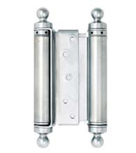 6 Inch Mortise Type Double Acting Spring Hinge with Ball Tips, Pair, Bommer CL3029-6