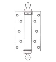 6 Inch Spring Hinge with Ball Tips, Pair, Bommer CL4010-6-652