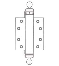 6 Inch Spring Hinge with Ball Tips, UL Fire Rated, Pair, Bommer CL4030-6