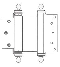 5 x 3-1/2 Template Mortise Double Acting Spring Hinge With Ball Tips, Pair, Bommer CL3029-5x3.5