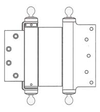 6 x 4-1/2 Template Mortise Double Acting Spring Hinge with Ball Tips, Pair, Bommer CL3029-6x4.5