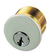 1-Inch Brass Mortise Cylinder Lock for Storefront Door, TH1100-BC