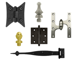 Cabinet Hinges and Cabinet Hinge Finials