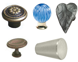 Cabinet Knobs and Knob Rosettes