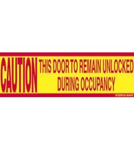 Door Caution Sticker, SB-P1-CD02