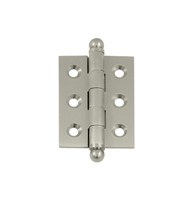 2 Inch x 1-1/2 Inch Solid Brass Cabinet Hinge, Pair, Deltana CH2015