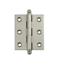 2-1/2 Inch x 2 Inch Solid Brass Cabinet Hinge, Pair, Deltana CH2520