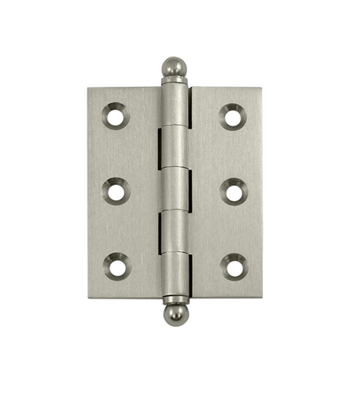 2 1/2 Inch X 2 Inch Solid Brass Cabinet Hinge, Pair,