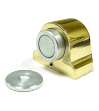 Solid Brass Magnetic Dome Door Stop, Deltana DSM125
