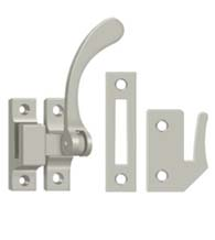 Solid Brass Contemporary Window Lock Casement Fastener, Deltana CF450
