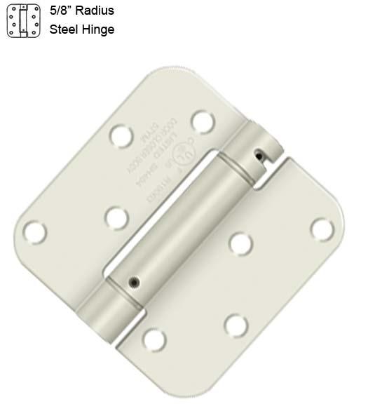 Deltana DSH4R52DBM Single Action Steel 4-Inch x 4-Inch x 5//8-Inch Spring Hinge
