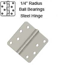 4 x 4 x 1/4 Radius Residential with Ball Bearings Steel Hinge, ZigZag Holes, Pair, Deltana S44R4BB
