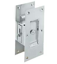 Large Contemporary Pocket Door Privacy Lock, Deltana SDL60
