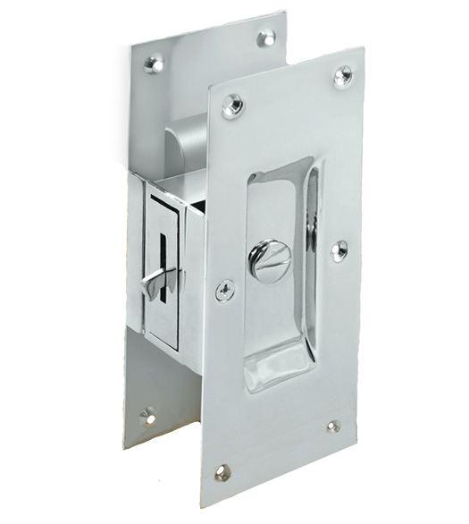 pocket door privacy lock. Large Contemporary Pocket Door Privacy Lock, Deltana SDL60 Lock E