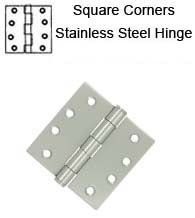 4 x 4  Residential Stainless Steel Hinge, Pair, Deltana SS44U32D-R