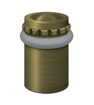 Solid Brass 2-1/8 Inch Fancy Universal Door Stop, Deltana UFBP5000