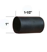 Replacement Rubber Tip for Heavy Duty Door Stops, Deltana DSF-RUBBER