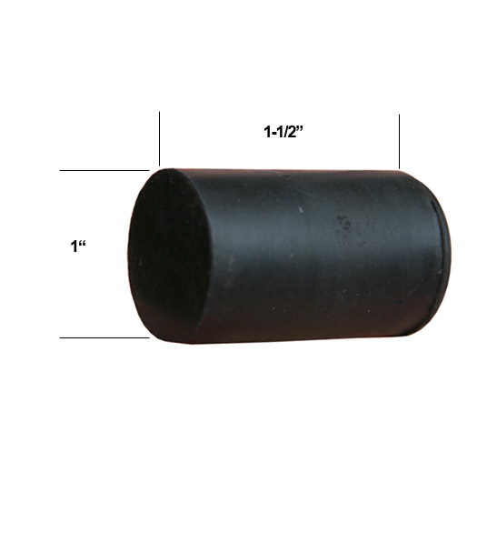 Replacement Rubber Tip For Heavy Duty Door Stops, Deltana DSF RUBBER