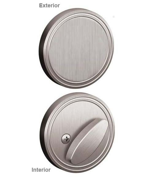 Schlage Dexter One Sided Deadbolt With Exterior Plate