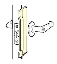 Commercial Door Stainless Security Latch Guard Plate, Don Jo CLP 106 630